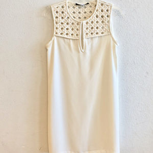 Diane von Furstenberg, Sz 6, White Shift Dress